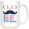 Image of Dad The Myth-White Mug - HobnobStore