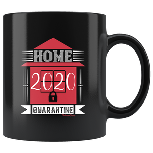 Home 2020 Quarantine-Black Mug - HobnobStore