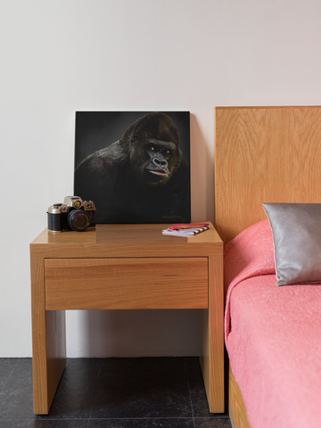 Image of Gorilla Portrait Canvas-Free Shipping - Hobnob Store