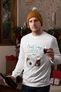 Just Say Cheese Sweatshirt - HobnobStore