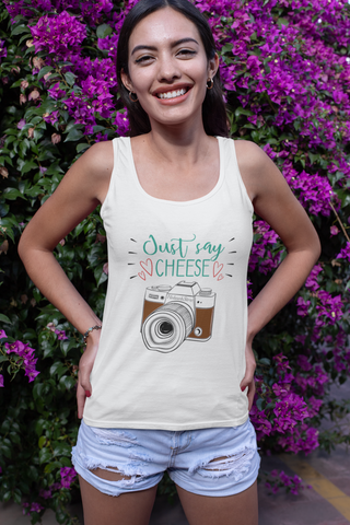 Just Say Cheese Tank Top - HobnobStore