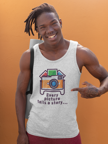 Image of Every Picture Tells a Story Tank Top - Hobnob Store