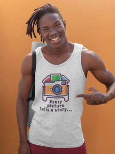 Every Picture Tells a Story Tank Top - Hobnob Store