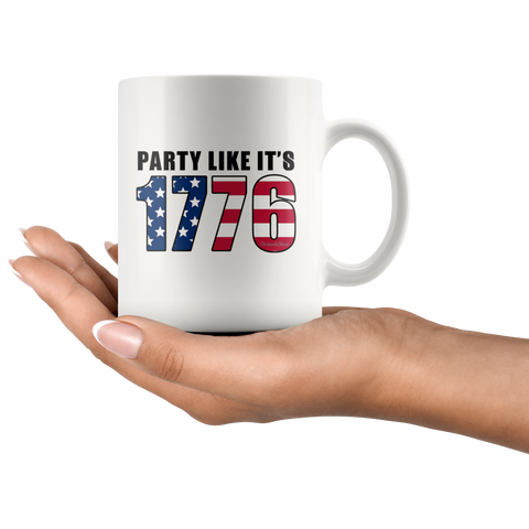 Image of Party Like its 1776-White Mug - HobnobStore