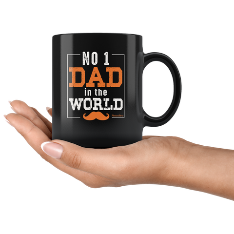 No 1 Dad In The World-Black Mug - HobnobStore