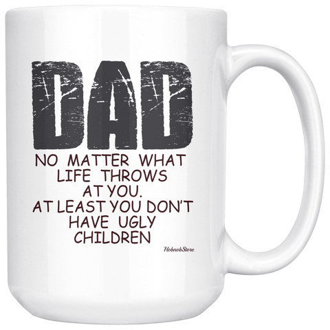 Dad No Matter What-White Mug - HobnobStore