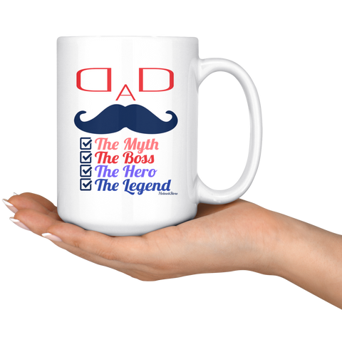 Dad The Myth-White Mug - HobnobStore