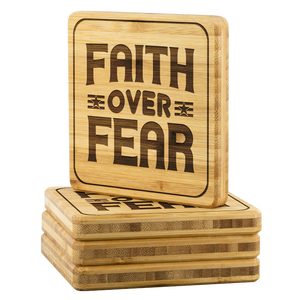 Faith Over Fear-Square Coaster