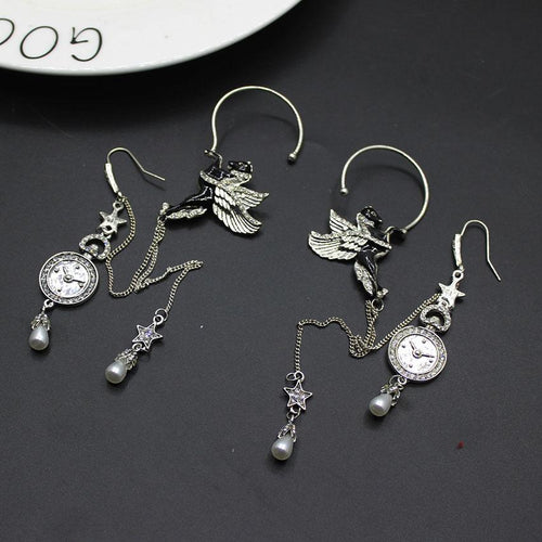 Pegasus Drop Earrings - Black