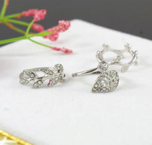 Fall Leaf Rings - 10.25 / White / Silver Plated