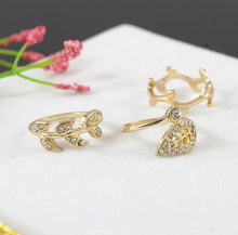 Fall Leaf Rings - 10.25 / White / Gold-color