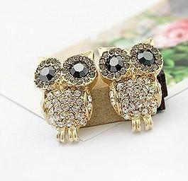 Golden Owl Earrings - Gold