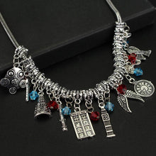 Multiple Charm Necklace - Silver