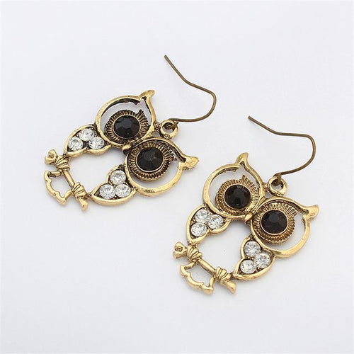 Hoot Hoot Earrings - Gold