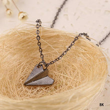 Origami Plane Necklace