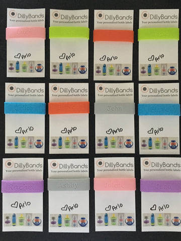 DillyBands party pack (10 labels)