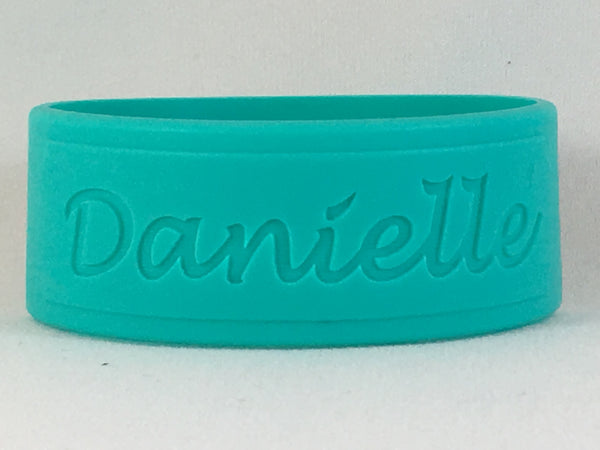 DillyBands 3-pack labels (3 names, colours, and fonts)