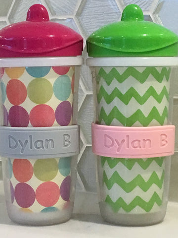 DillyBands 2-pack labels (one names, colour, and font)