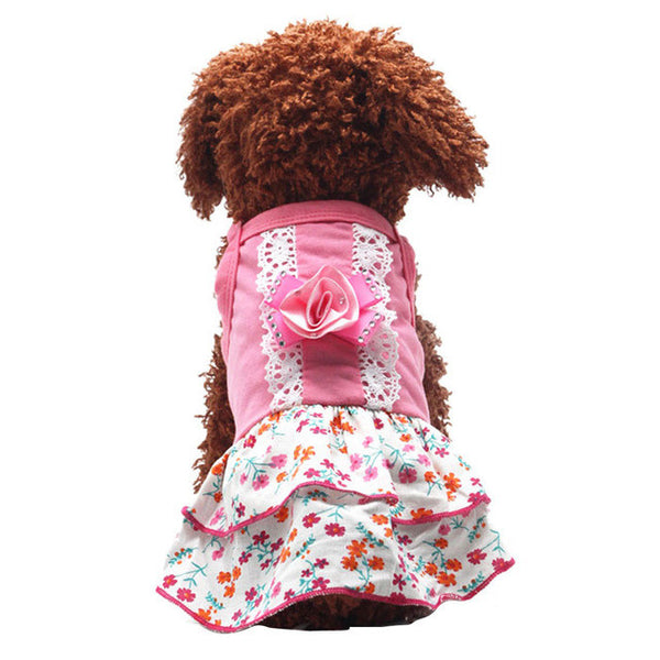 Flower Skirt Dog Coat