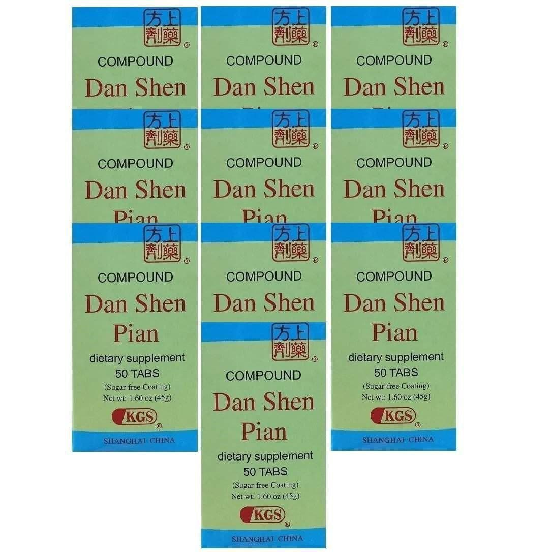 10 Boxes of Compound Fu Fang Dan Shen Pian (50 tablets)-Buy at New Green Nutrition