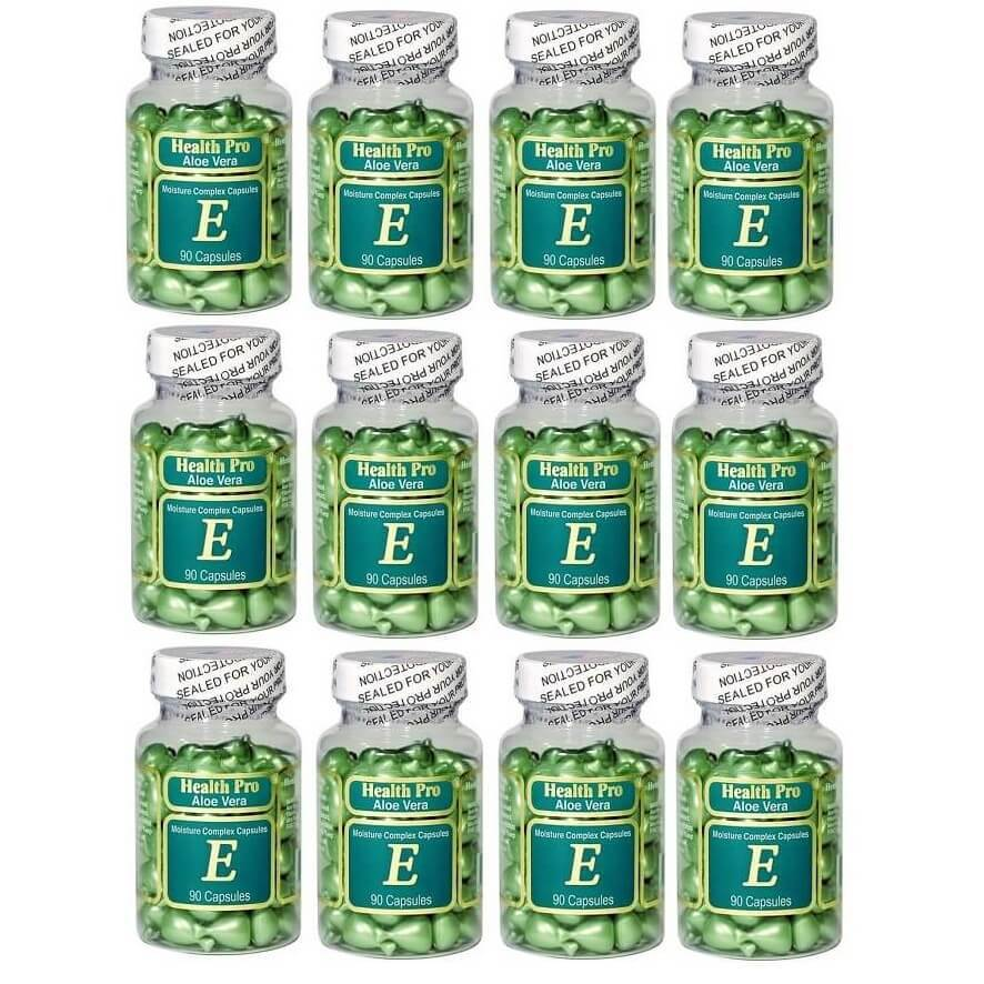 12 Bottles Nu-Health Aloe Vera Vitamin E Skin Oil Moisture Complex (90 Capsules)-Buy at New Green Nutrition