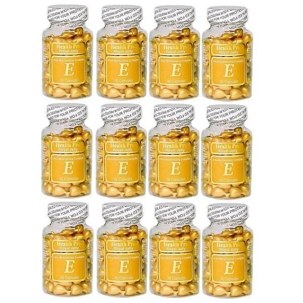 12 Bottles Nu-Health Royal Jelly Vitamin E Skin Oil Moisture Complex (90 Caps)-Buy at New Green Nutrition