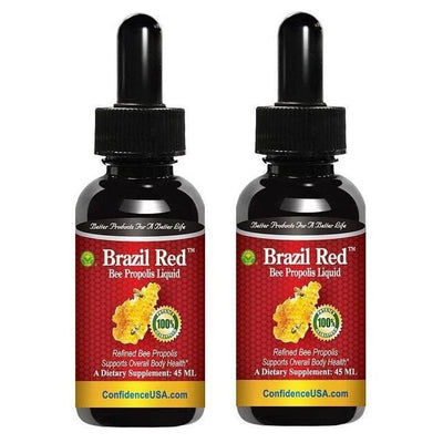 2 Bottles Brazil Red Bee High Concentrate Propolis Liquid (45 ML)-Buy at New Green Nutrition