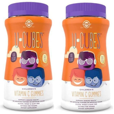 2 Bottles Solgar U-Cubes Children's Vitamin C (90 Gummies)-Buy at New Green Nutrition