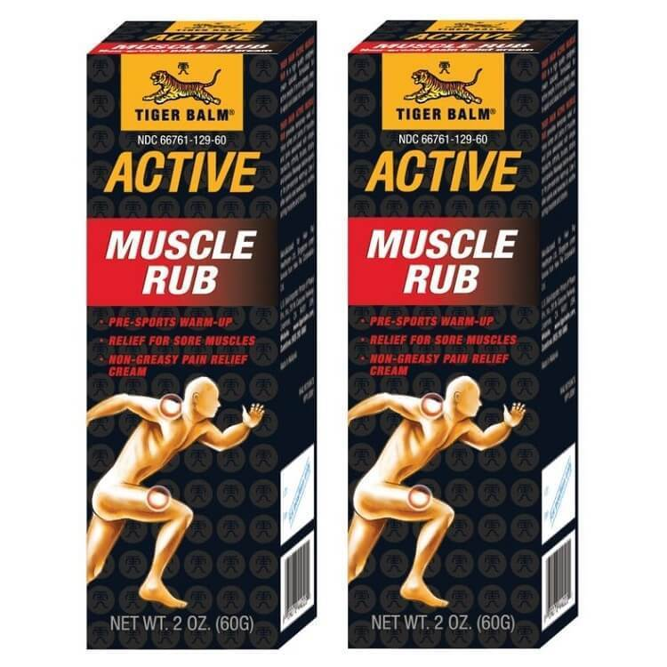 2 Boxes of Tiger Balm Active Muscle Rub, Non-Greasy (2oz.)-Tiger Balm