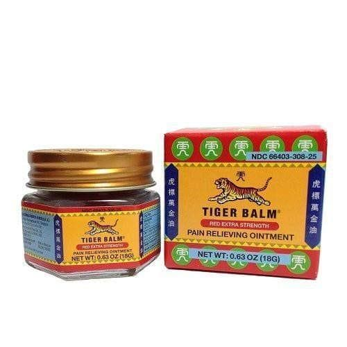2 Boxes Tiger Balm Red Extra Strength Pain Relieving Ointment (0.63 oz)-Buy at New Green Nutrition