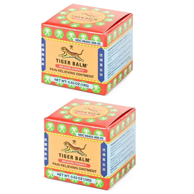 2 Boxes Tiger Balm Red Extra Strength Pain Relieving Ointment (0.63 oz)-Tiger Balm