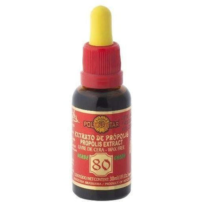 24 Bottles of Polenectar Brazil Green Bee Propolis Extract Wax Free 80 (30mL)-Buy at New Green Nutrition