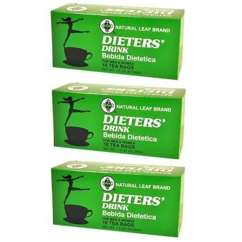 3 Boxes Natural Leaf Brand Dieter Drink Tea (18 Tea Bags)-Buy at New Green Nutrition