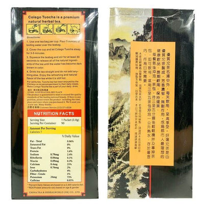Chinses Colego Tuocha Tea (90 Teabags)-Buy at New Green Nutrition
