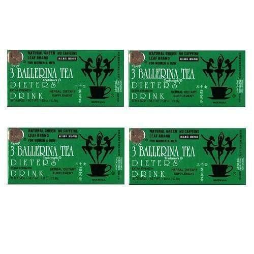4 Boxes of 3 Ballerina Tea, Extra Strength (18 Tea Bags)-Buy at New Green Nutrition