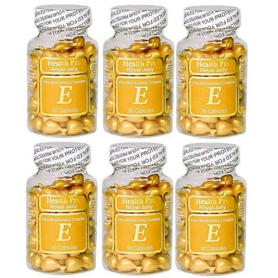 6 Bottles Nu-Health Royal Jelly Vitamin E Skin Oil Moisture Complex (90 Caps)-Nu Health