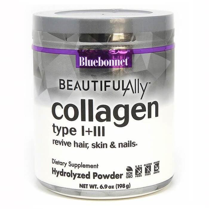 Bluebonnet Beautiful Ally Collagen Type I+III 1000 mg (6.9oz)-Bluebonnet Nutrition