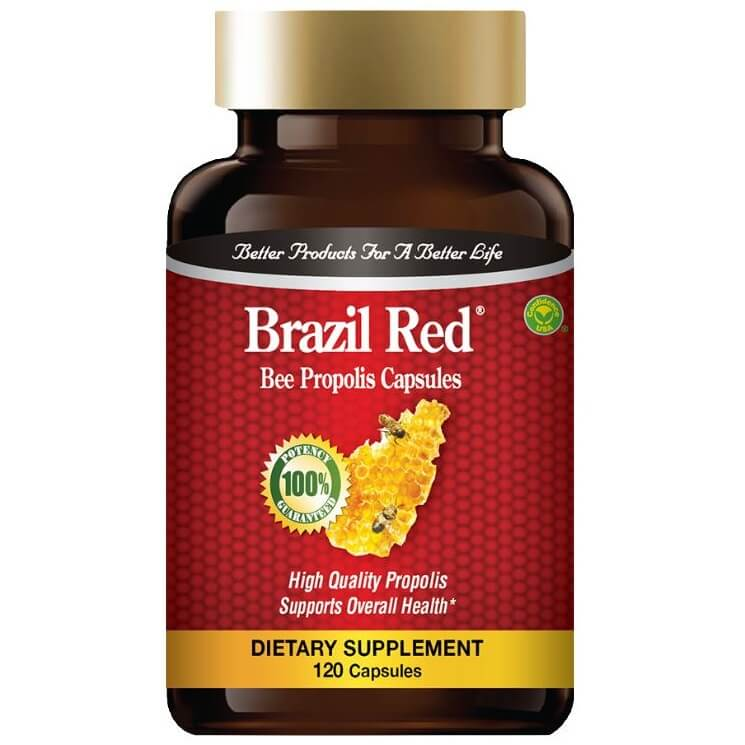 Brazil Red Bee High Concentrate Propolis (120 Capsules)-Buy at New Green Nutrition