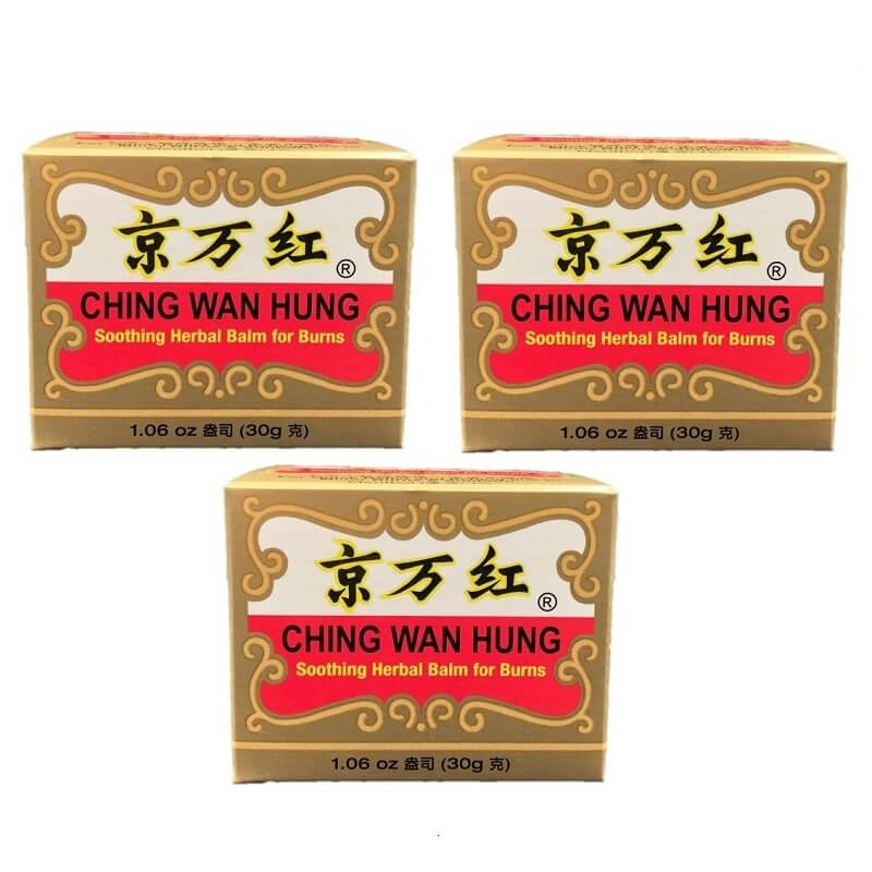3 Boxes of Ching Wan Hung - Soothing Herbal Balm for Burns (1.06 oz)-Buy at New Green Nutrition