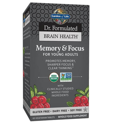 Garden of Life Dr. Formulated Memory & Focus For Young Adults (60 Veggies Capsules)-Garden of Life