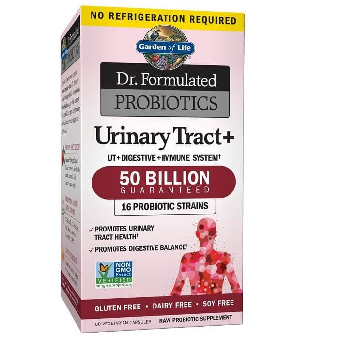 Garden of Life Dr. Formulated Probiotics Urinary Tract+ 50 Billion CFU (60 Veggie Capsules)-Garden of Life