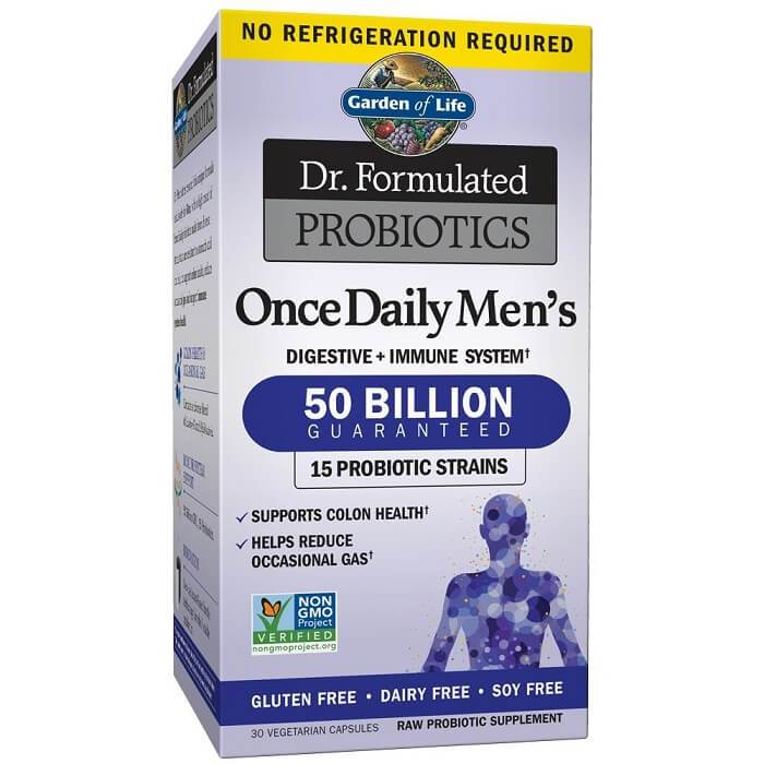 Garden of Life Dr. Formulated Once Daily Men's Probiotics 50 Billion CFU (30 Veggies Capsules)-Garden of Life