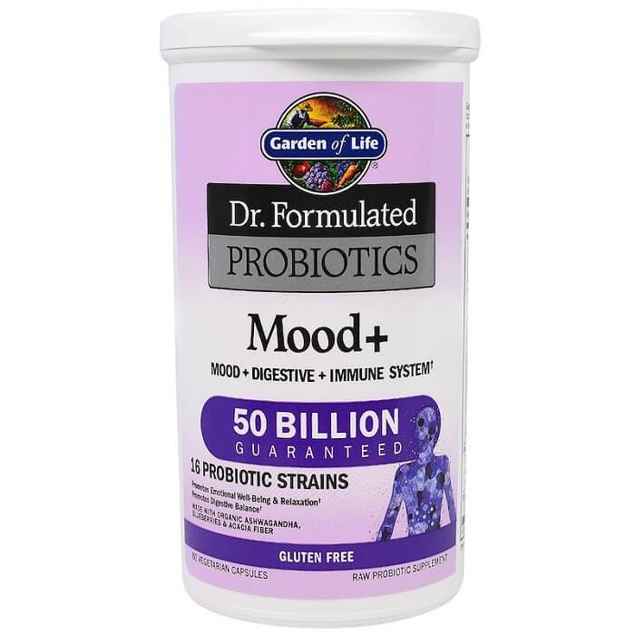 Garden of Life Dr. Formulated Probiotics Mood+ (60 Veggie Capsules)-Buy at New Green Nutrition