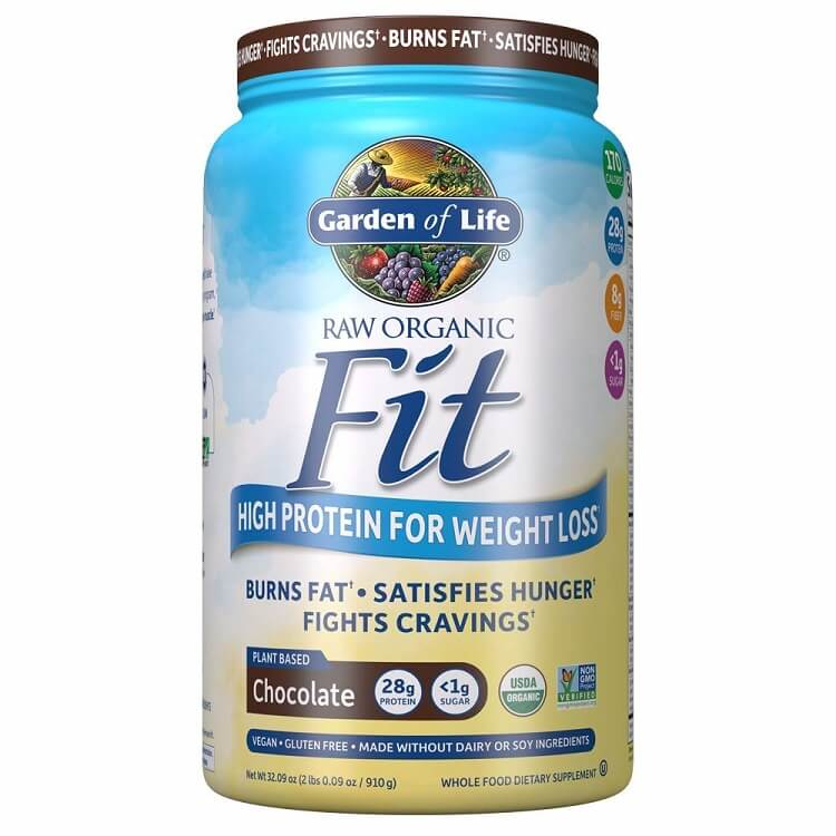 Garden of Life Raw Organic Fit For Weight Loss Chocolate Flavor (32.09 oz.)-Buy at New Green Nutrition