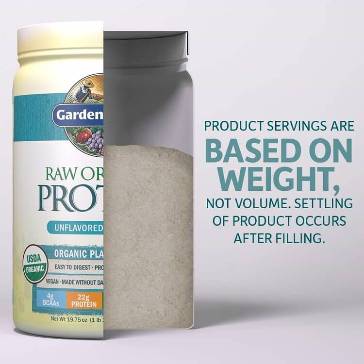 Garden of Life Raw Organic Protein Unflavored Powder (19.75 oz.)-Buy at New Green Nutrition