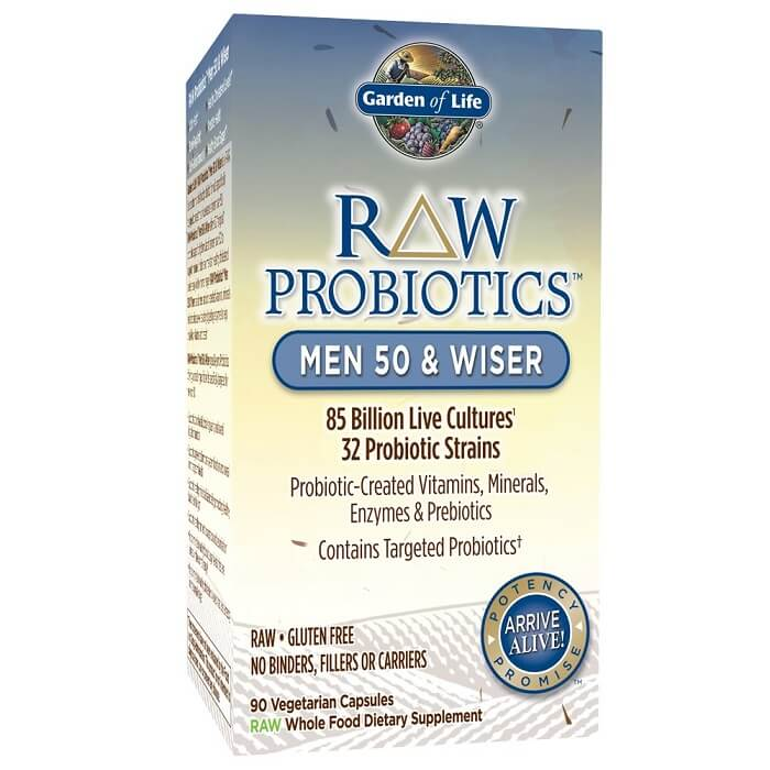 Garden of Life Raw Probiotic for Men 50 & Wiser (90 Veggie Caps)-Garden of Life
