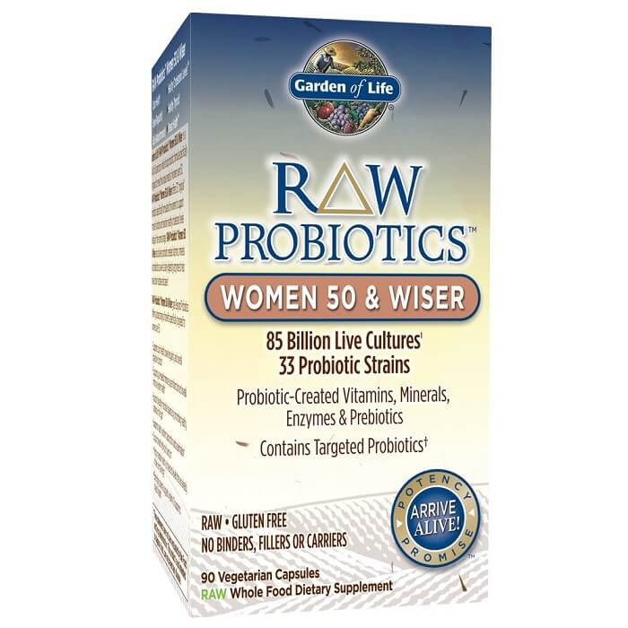 Garden of Life Raw Probiotic for Women 50 & Wiser (90 Veggie Caps)-Buy at New Green Nutrition
