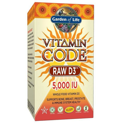 Garden of Life Vitamin Code Raw D3 5000 IU (60 Vegetarian Capsules)-Garden of Life