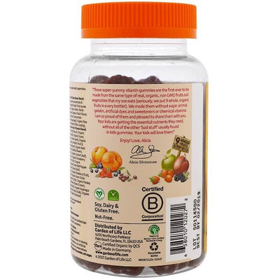Garden of Life mykind Organics Kids Multi Vitamin Fruit Flavor (120 Gummies)-Garden of Life