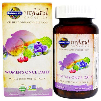 Garden of Life mykind Organics Women's Once Daily (60 Vegan Tablets)-Garden of Life